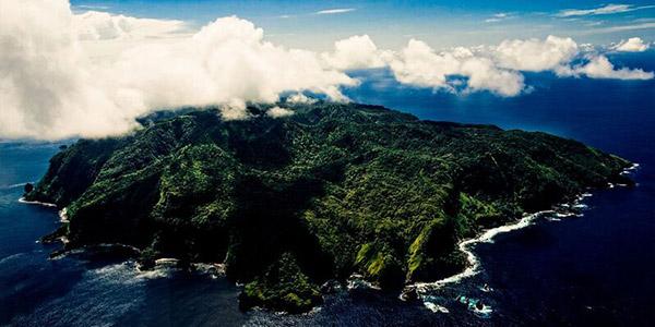 Isla del Coco destino famosos - foto aerea