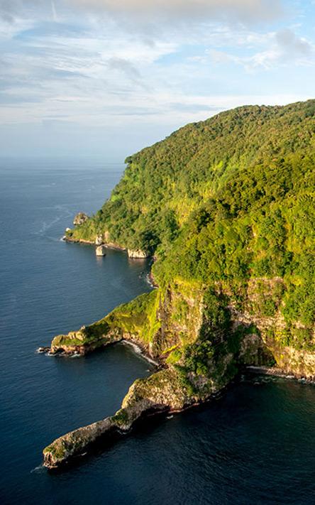 Parque Nacional Isla del Coco, Foto Aerea