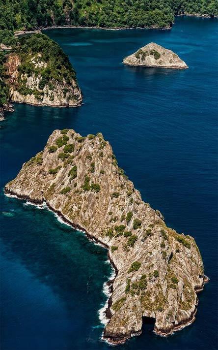 Isla del Coco Costa Rica - Foto aérea islotes