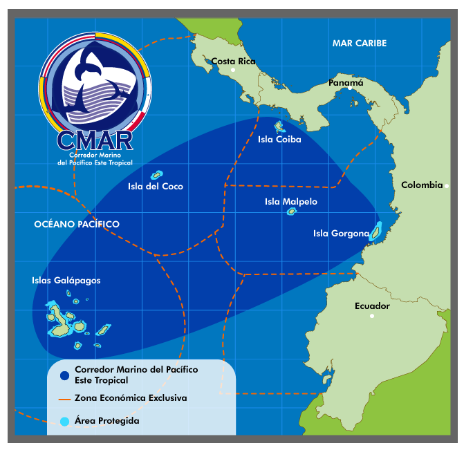 Map of the Marine Corridor of the Eastern Tropical Pacific - CMAR
