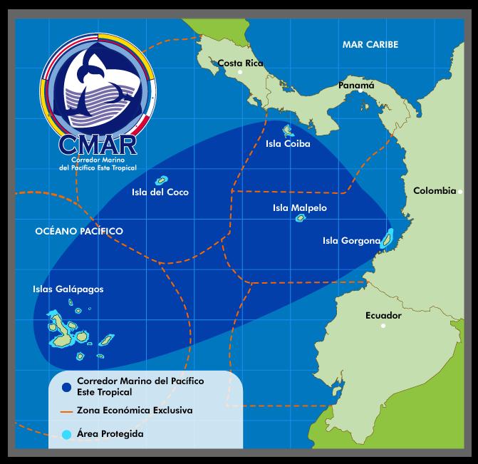 Mapa Corredor Marino Pacifico Este Tropical CMAR