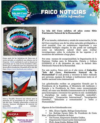 Boletín Informativo Faico 3, 2015