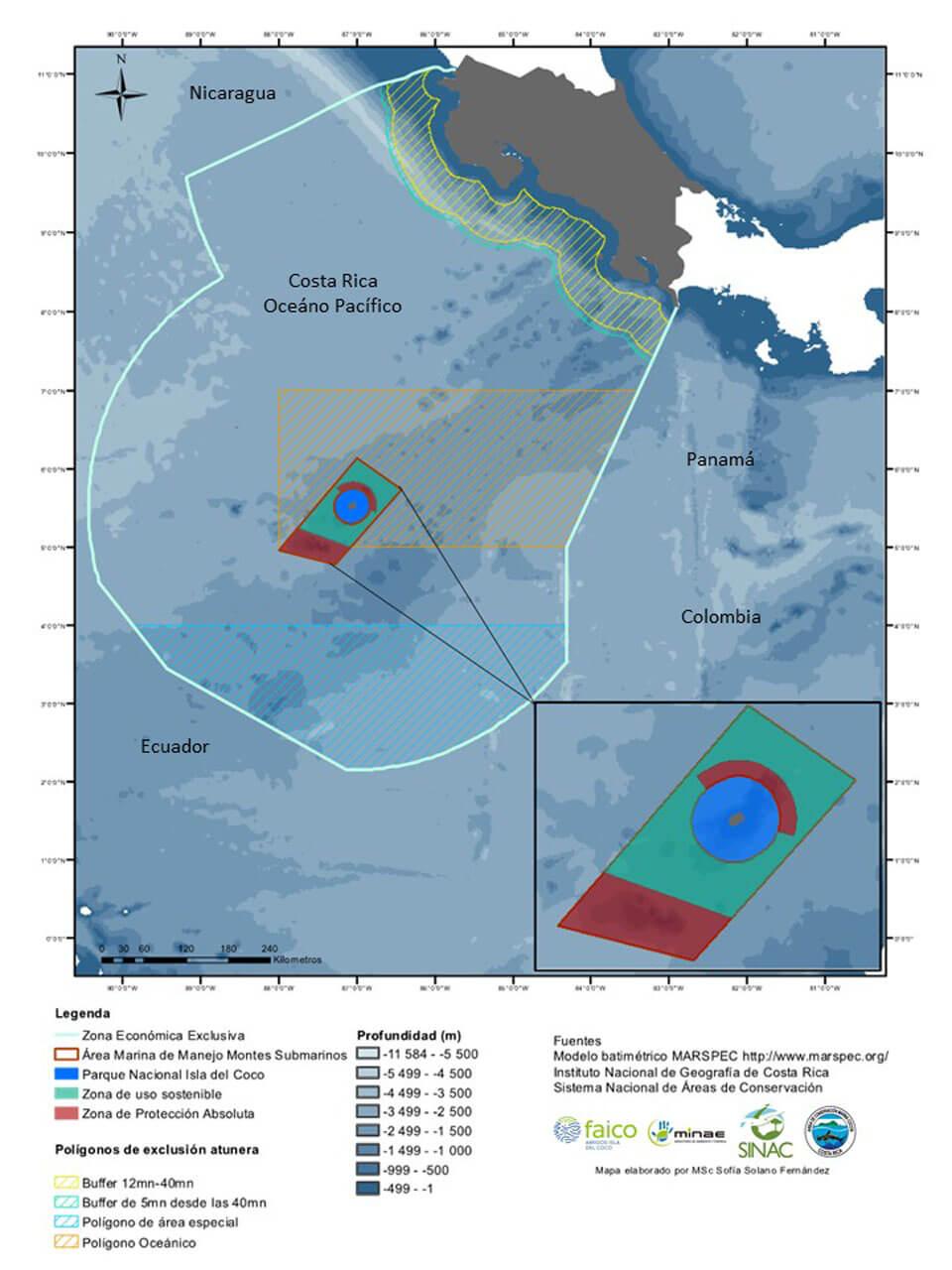 Mapa de Manejo de la Isla del Coco, Costa Rica