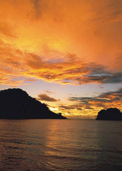 Atardecer en Isla del Coco