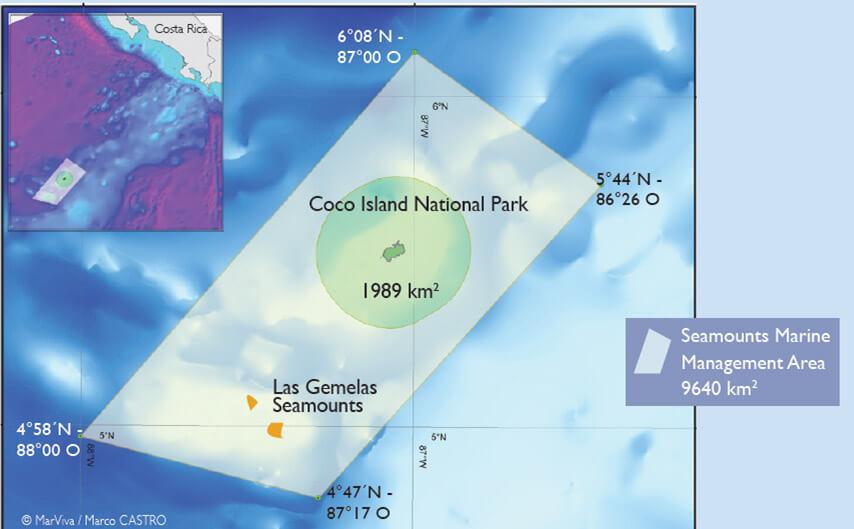 Mapa del Área Marina de Manejo Montes Submarinos