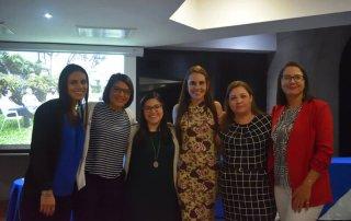 De izquierda a derecha: Andrea Montero de Faico, Yesenia Salazar y Daniela Aguilar de Kerigma Comunicación, Magaly Cordero, Karla Salazar y Alejandra Villalobos.
