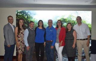 De izquierda a derecha: Marco Quesada, Magaly Cordero, Mario Carvajal, Andrea Montero, Carlos Manuel Uribe, Alejandra Villalobos, Karla Salazar y Esteban Brenes, Directores y Administración de Faico.