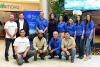 Representantes de Smart Rabbit, el Area de Conservación Marina Cocos, el Parque Nacional Isla del Coco, Faico, SC Johnson y Miss CR 2018 Natalia Carvajal, Embajadora de Faico.