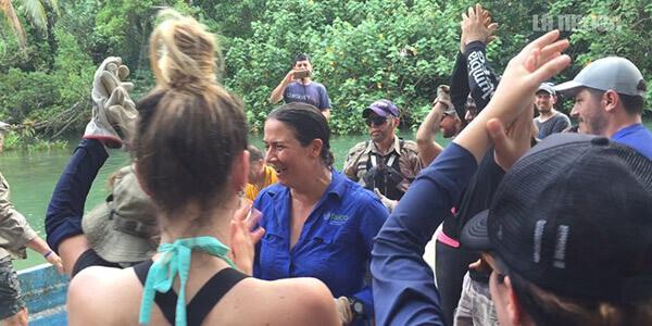 Isla del Coco le dijo adiós a 14 toneladas de desechos