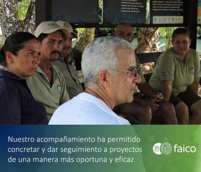 El éxito de la alianza entre el ACMC y Faico es el resultado del acompañamiento y las visitas de campo del personal administrativo y directores de Faico