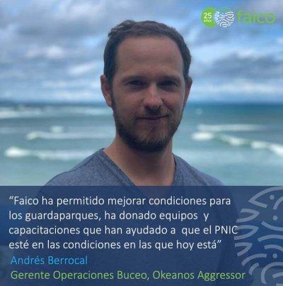 Queremos felicitar y agradecerle a Faico por su compromiso con la Isla del Coco;