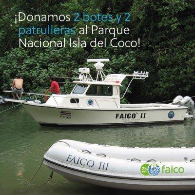 Donamos dos botes inflables y dos lanchas patrulleras para el PNIC.
