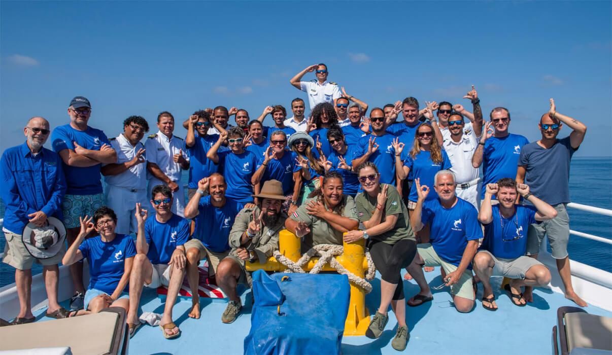 Expedición a la isla del Coco, 2021, tripulantes Okeanos II