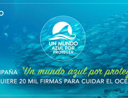 """CAMPAÑA """"UN MUNDO AZUL POR PROTEGER"""", REQUIERE 20 MIL FIRMAS PARA CUIDAR EL OCEANO"""
