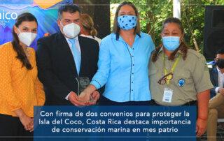 CON FIRMA DE DOS CONVENIOS PARA PROTEGER LA ISLA DEL COCO, COSTA RICA DESTACA IMPORTANCIA DE CONSERVACIÓN MARINA EN MES PATRIO